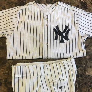 Yankees Majestic Jersey Matching Rawling Pants